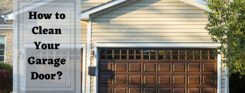 How to Clean Your Garage Door