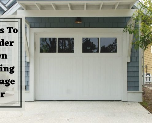 Factors To Consider When Choosing A Garage Door