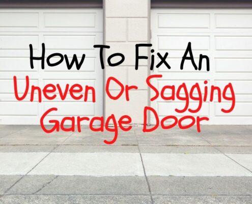 OPM How To Fix An Uneven Or Sagging Garage Door